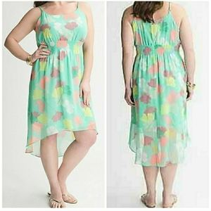 Lane Bryant Plus 26/28 Mint Green Chiffon Hi-Lo